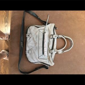 She & Lo top handle crossbody leather handbag